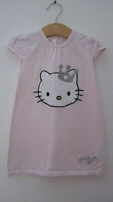 Hello Kitty Baby Girl Knit Princess Pink Dress 12-18 Months H & M