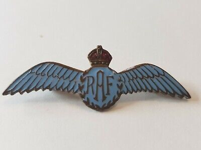 RAF WINGS SWEETHEART brooch with enamel and brass