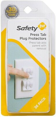 (36 Pack) Safety 1st First Press Tab Plug Protectors Socket Covers