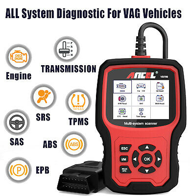 OBD2 Car Diagnostic Scan Tool Full System EPB Oil ABS DPF Reset for Audi Skoda
