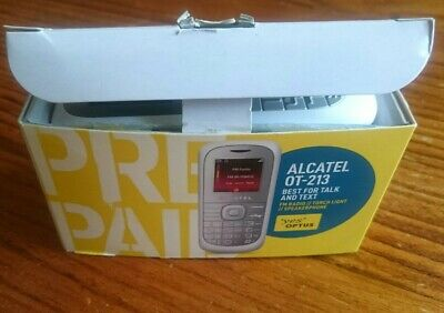 Vintage ALCATEL OT-213 mobile phone 2G with SIM card, Charger & earphones.