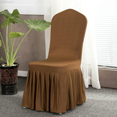 2C36 Pleated Chair Covers Stretchy Seats Covers 25 Color