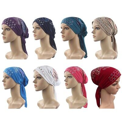 Muslim Womens Hijab Cancer Hat Chemo Inner Caps Turban Hair Loss Head Scarf SBv3