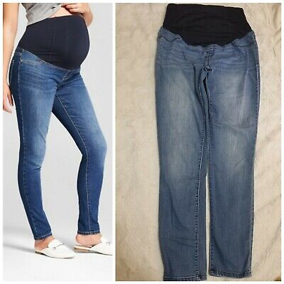Crossover Panel Sizes 2 4 8 #MA10 Isabel Maternity Dark Wash Jean Jeggings
