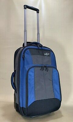 EAGLE CREEK LUGGAGE HOVERCRAFT 22 Blue Grey Black Upright Wheeled Exp Suitcase