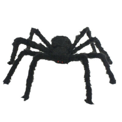200CM Plush Giant Black Spider Decoration Halloween Haunted House Garden Props