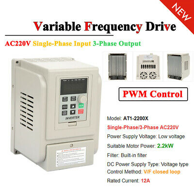AC220V 2.2kW Single Phase/3Phase Variable Frequency Drive Inverter CNC Motor VFD