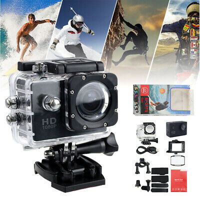 Full HD Action Camera Sport Video Camcorder Waterproof Cam DVR for Go