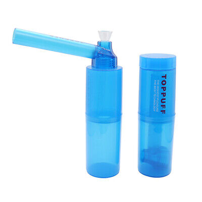 For Top Puff Hookah Portable Water Bong Glass Pipes Smoke Herb Random Color