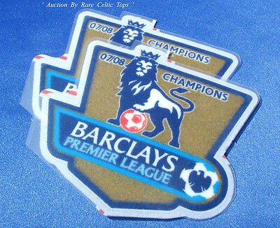 Lextra EPL Manchester United 2007-2008 Champions Player Issue Arm Patches