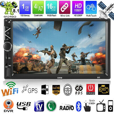"7"" 2DIN Android 8.1 GPS Navigation WiFi Quad Core Autoradio MP5 Player FM Radio"