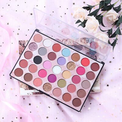 35 Colors Matte Pearlescent Glitter Eye Shadow Pigment Palette Make up Eyeshadow