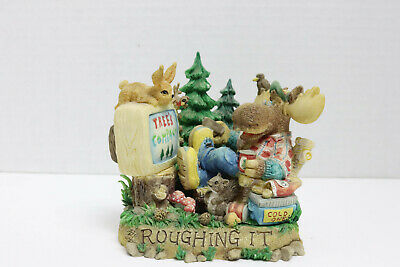 Moose and wilderness animals Roughing it Rustic Cabin decor figurine collectible