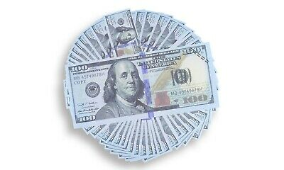 $100k Stack Replica Prop Fake Play Money New $100 Bills Not Real Lot of 10 sets