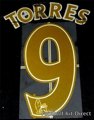 Liverpool Torres 9 Name/Number Set Football Shirt Lextra Sporting ID 2007/2013