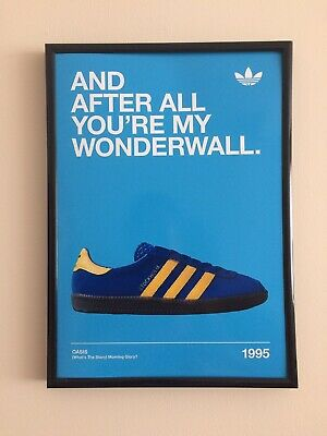 Wonderwall Lyrics Oasis A4 260gsm Framed Poster Print