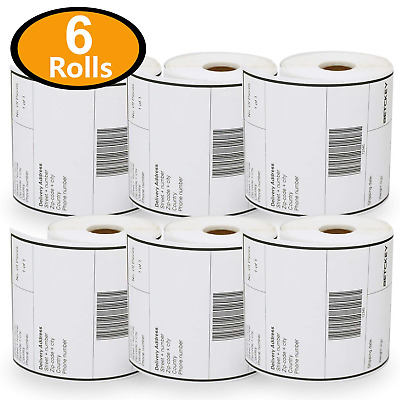 6 Rolls Dymo S0904980 Compatible 4XL Internet Postage Extra-Large 104mm x 159mm