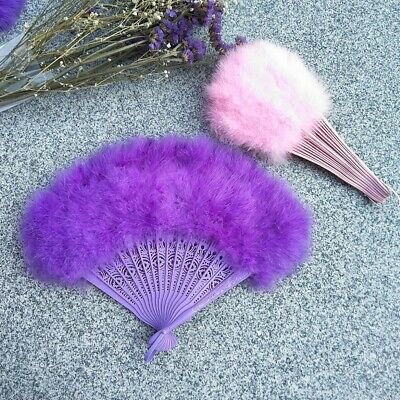 Violet Feather Fan For Dancing, Party, Wedding, Burlesque,Bridal, Kids Fan