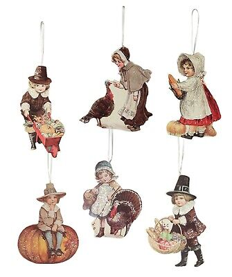 Bethany Lowe Thanksgiving Set Of 6 Different Thanksgiving Ornaments RL8150 New