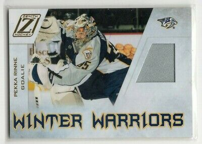 1X PEKKA RINNE 2010 11 Zenith #PR WINTER WARRIORS Game Used JERSEY Predators