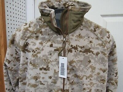 USMC Desert Digital MARPAT Polartec Jacket Wind Pro Fleece Large Regular New