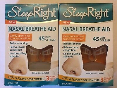 6 SLEEP RIGHT Nose Nasal Breathe Aid Stop Snoring Breath Breathing DAMAGED BOXES