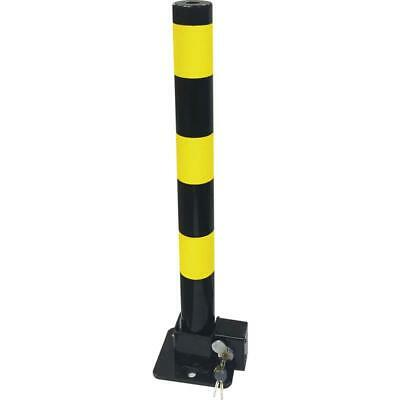 Folding Parking Post - Steel Lockable Security Car Driveway Barrier Bolt Down