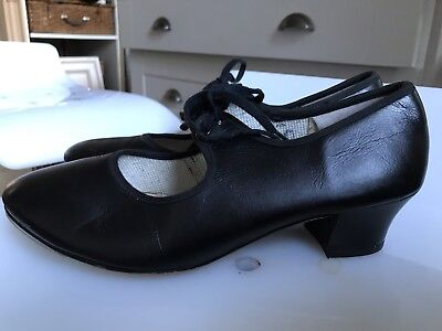 DANCE TAP SHOES KATZ LADIES TOE TAP CUBAN HEEL TAP SHOES SIZE 6 Free Postage