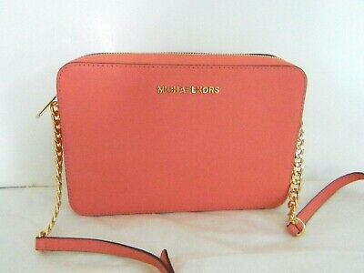 NWT MICHAEL KORS Jet Set Voyage London Fluo Citron LG EW