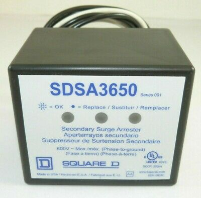 Square D SDSA3650 Secondary Surge Arrester 600v   40 ka