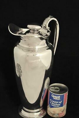Wilcox Silver Co 64 Ounce Silver Plate Cocktail Shaker Decanter Pitcher Ice Lip