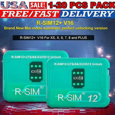 R-SIM12+V16 Nano Unlocking Card RSIM for iPhone XS MAX/XR/8/7/6 iOS12 11 Lot