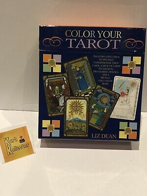 Color Your Tarot by Liz Dean (Used, 2 Cards Slightly Colored)