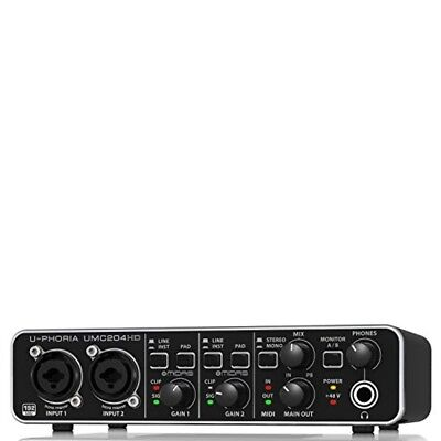 BEHRINGER UMC 204 HD 24-Bit / 192 kHz USB Audio Interface from japan
