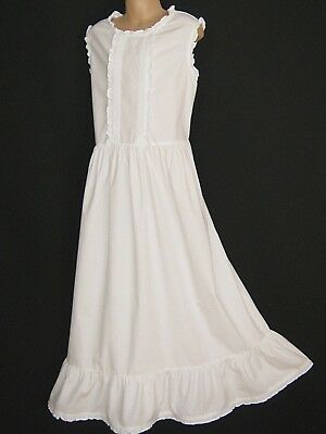 Laura Ashley Vintage Mother&Child White Cotton Frilled Summer Dress,11 Years