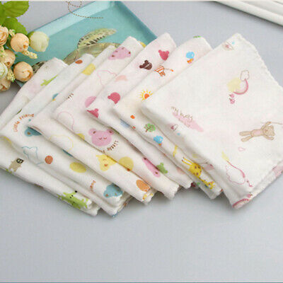20Pcs 100% Cotton Bath Wash Handkerchief Soft Baby Newborn Gauze Muslin Square