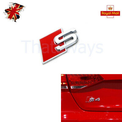 For Audi S-Line Sports Metal S Boot Badge A3 A4 S3 A6 A8 S S4 S8 RS3 RS4 RED