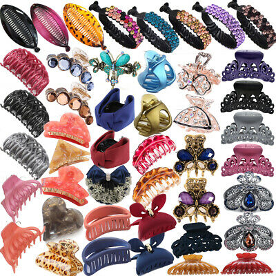 NEW Women Metal  Hair Claw Clips Hairband Barrette Crab Clamp Hair Accessories