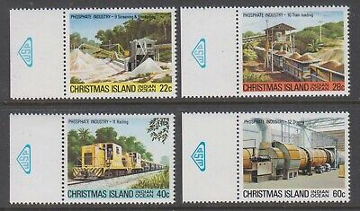Christmas Island  1980 Phosphate Industry Mint unhinged part 3, set 4  with tabs