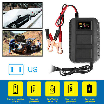 Intelligent 12V 20A Automobile Lead Acid Battery Charger Car Motorcycle US