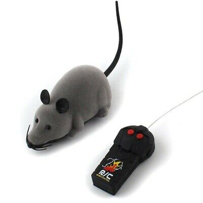 Pet Remote Control Toy Puppy Cat Dog Fake Mouse Prank Rat Mock Wireless RC Gifts