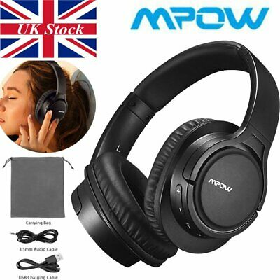 Mpow H7 Bluetooth Headphones Stereo Over Ear Headset Microphone Wired&Wireless
