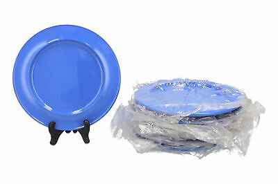7 x Find Memory Care blue melamine side plates Dementia care