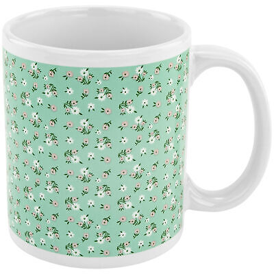 Floral Pattern Coffee Mug with Dick Image on Bottom Gag Novelty Gift Tea Cup