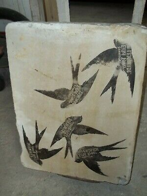 Rare Antique 1893 Victorian Lithograph Stone Printing Block Lemonade Advertising