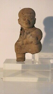 Pre-Columbian Colima female nursing an infant, terracotta - 100 BCE - 200 ADE