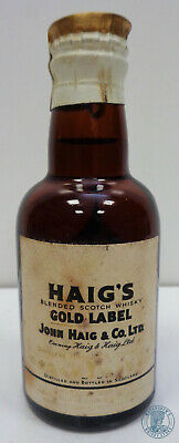 Miniature / Mignon Scotch Whisky HAIG'S Gold Label con Clip