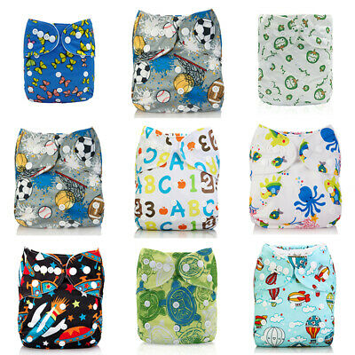 Diapers Reusable Insert 4-layers One Cloth 1 Pocket Baby Bamboo Nappy+ Size ALVA