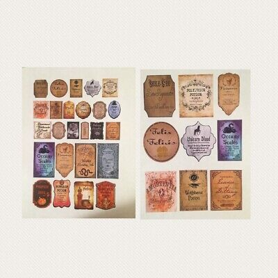 34Sticker Labels Apothecary Potion Harry Potter Prop Party DIY Bottle Decoration