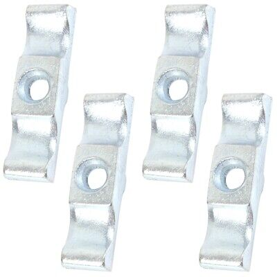 """4 SILVER TURN BUTTONS 2"""" Door Latch Thumb Twist Shed Gate Cupboard Cabinet Catch"""